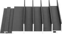 Profiel Aluminium gevelbekleding Alinel type D - 01